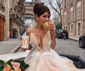 dress, paris, and outfit image