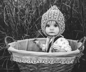 baby, cute, and black and white image