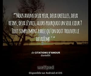 amour, french wattpad story, and coeur image