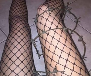 Barbed Wire, goth, and cyber image
