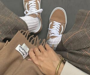 fashion, brown, and vans image