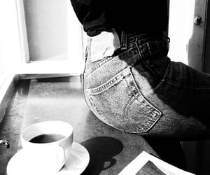 coffee, jeans, and denim image