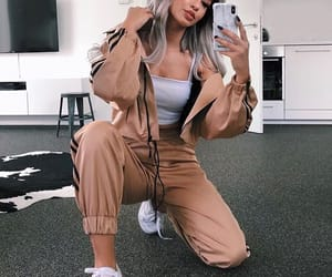 goals, grey hair, and outfit image