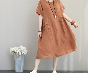 linen dress, summer dress, and women dress image