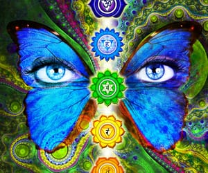 art, butterfly, and chakras image