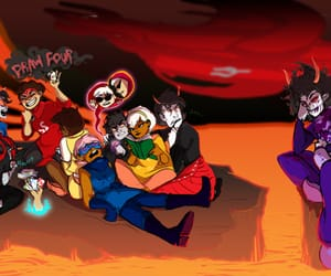 homestuck, john egbert, and karkat vantas image