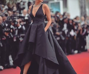 dress, irina shayk, and black image