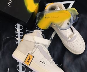 shoes, yellow, and nike air image