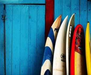 boards, summer, and surf image