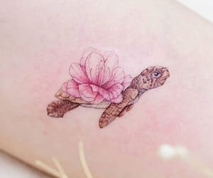 tattoo, turtle, and beauty image