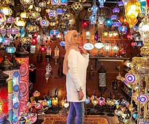 colors, hijab, and hijabista image