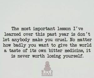 cruel, lesson, and quote image