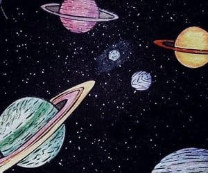 planet, space, and galaxy image
