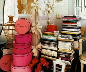 antique, books, and hat boxes image
