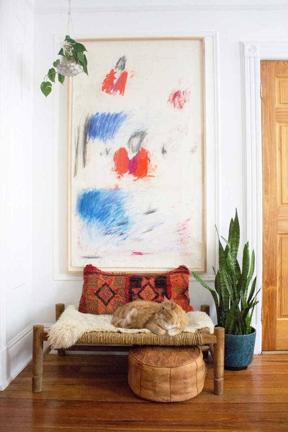 bohemian, entryway, and decor image
