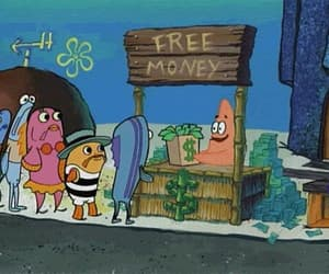 gif, spongebob, and patrick image