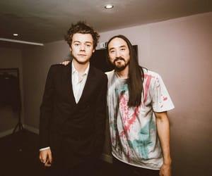 steve aoki and Harry Styles image