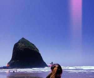 cannon beach, haystack rock, and beach image