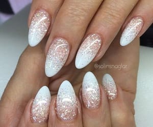 nail, nails, and glitter ombre image
