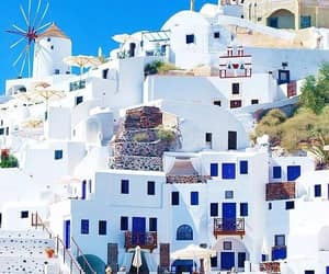 travel, architecture, and Greece image