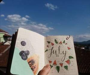 journal, july, and summer image