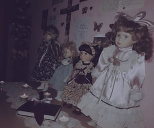 creepy, dolls, and knife image