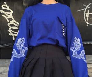 blue, fashion, and black image