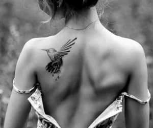 bird, tattoes, and black image