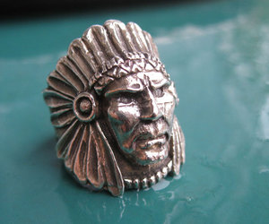 native american, ring, and sterling silver image