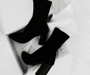 aesthetic, shoes, and black image