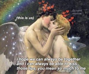 heart, lips, and magic image