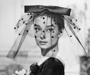 audrey hepburn, black and white, and icon image