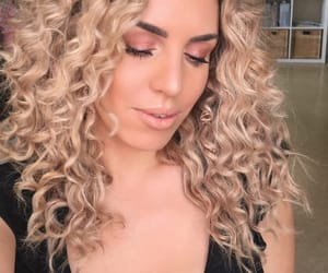 blonde, glam, and hairstyle image