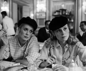 catherine deneuve, Francoise Dorleac, and black and white image