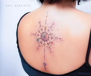 body art, inked, and floral image