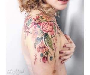 body art, luiza.blackbird, and floral image