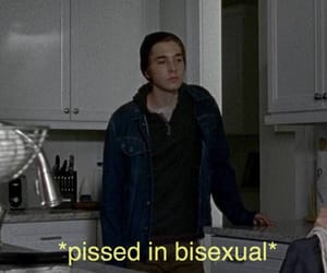 bisexual and pissed image
