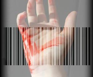 barcode, hand, and grungethemed image
