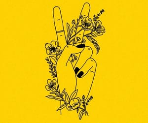 yellow, flowers, and peace image