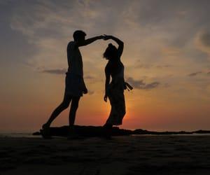 beach, beautiful, and couple image