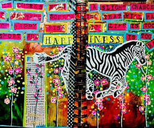 art, art journal pages, and art journal image
