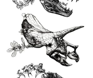 dinosaur, tattoo, and art image