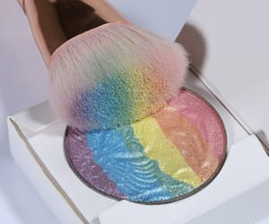 rainbow, makeup, and beauty image