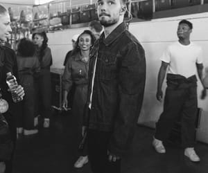 liam payne, black and white, and liam image