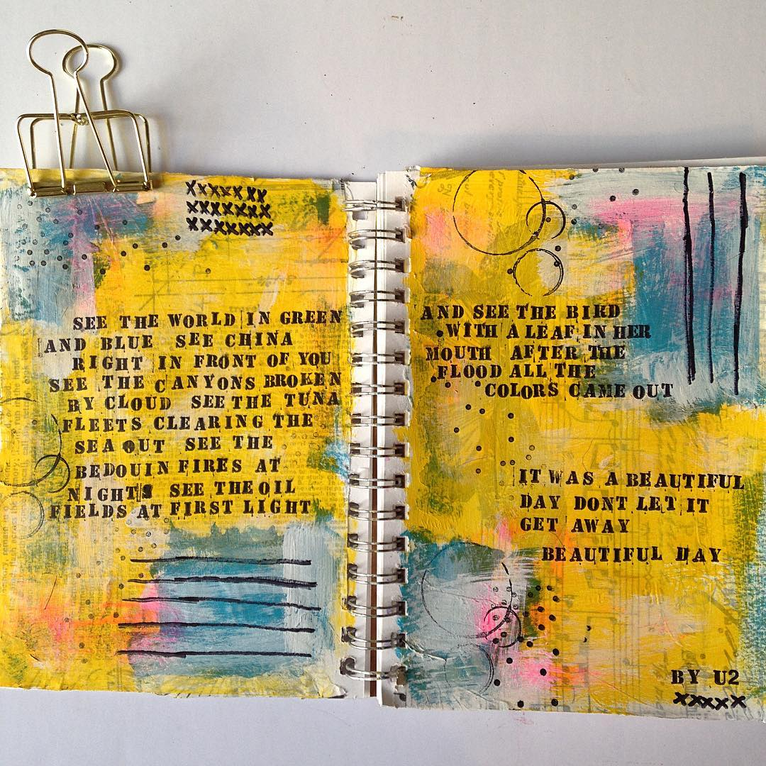 art, art journaling, and art journal pages image