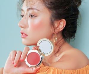 blush, model, and park sora image