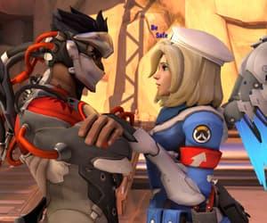 mercy, overwatch, and genji image