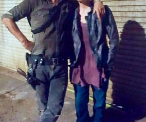 andrew lincoln, rick grimes, and melissa mcbride image