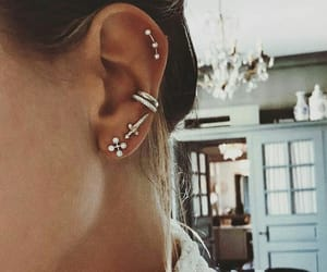 earrings, jewels, and sword image