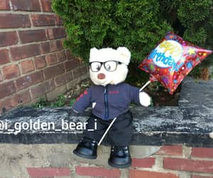 fluffy, glasses, and peluche image